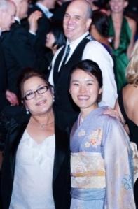 Ha, and my wife, Naomi san